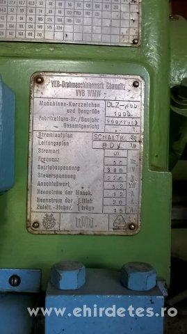 DLZ 490x1000 fémeszterga