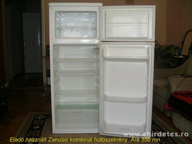 Eladó Zanussi kombinált hütöszekrény