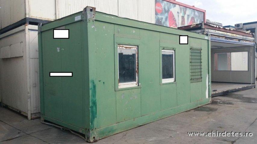 Eladó zöld lakható konténer