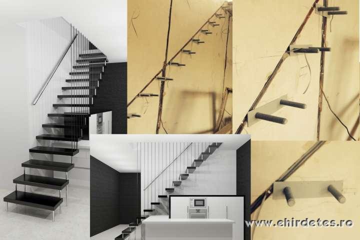 Lebegő és modern fémvázu Lépcsők