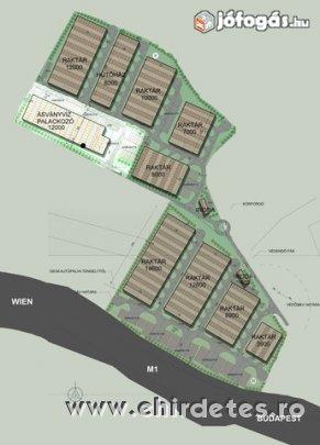 M1 Autóála mellett 20 hektár fejlesztési terüet eladó