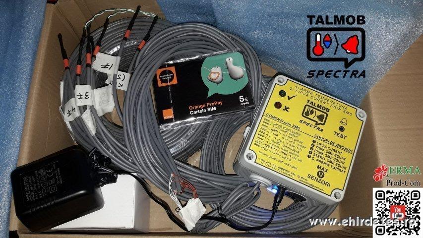 TALMOB   ooo  SMS hőmérő riasztó készülék  ooo Termometru SMS